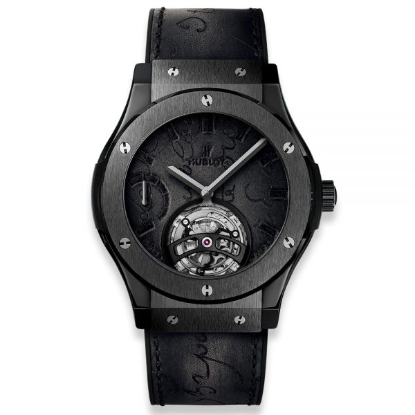 Classic Fusion Tourbillon Power Reserve 5 Days Berluti Scritto All Black 505.CM.0500.VR.BER17 Hublot